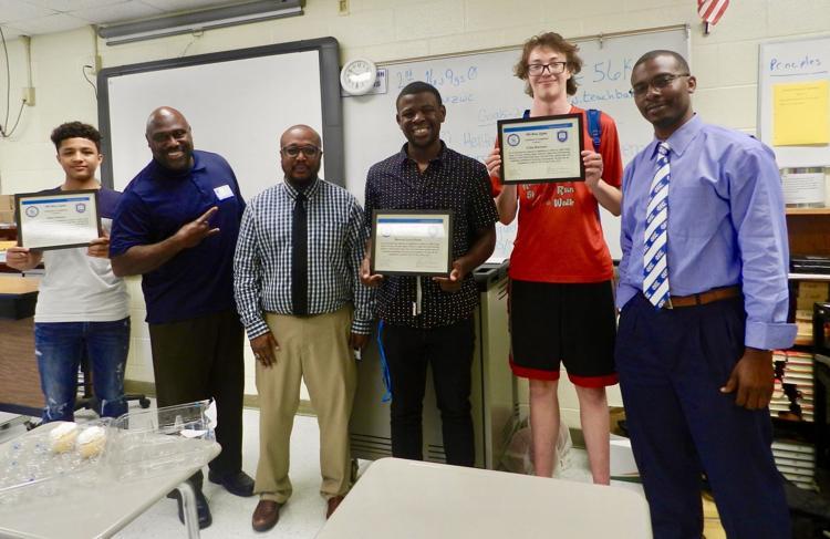 Phi Beta Sigma members mentor students at North Hardin High School