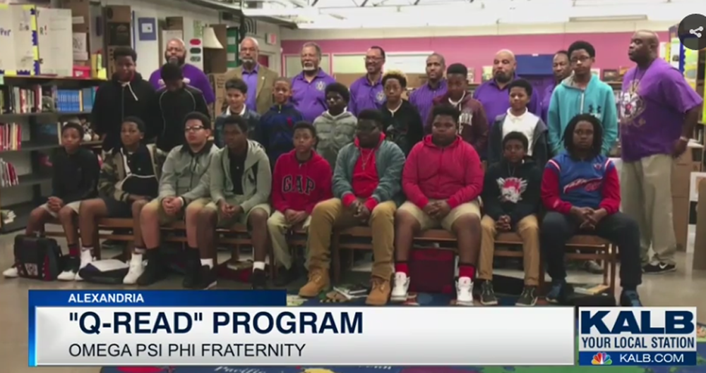 Omega Psi Phi conducts book club for kids