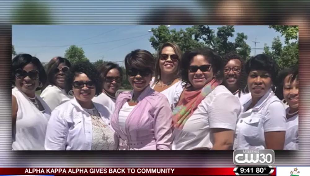 Anchor Katina Rankin And Ladies Of Alpha Kappa Alpha Lent Helping Hands