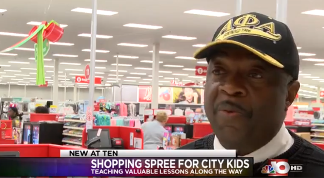 Fraternity takes underprivileged kids on shopping spree