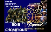 Phi Beta Sigma 2019 Gold Coast Step Champions