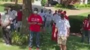 Kappa Alpha Psi Inc. members bond in social distancing for brother recovering at home