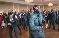 KAPPA ALPHA PSI brothers stroll at wedding